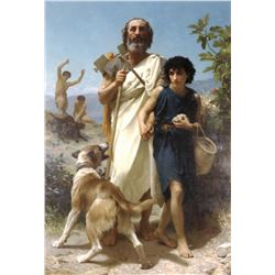 William Bouguereau - Homer and His Guide 1874