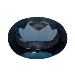43.46 ct. Natural Oval Cut London Blue Topaz