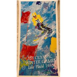 "Leroy Neiman ""World Class Skier, XIII Olympic Winter Games, Lake Placid 1980"""