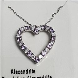 """Silver Simulation Alexandrite 18"""" Necklace, Suggested Retail Value $100"""