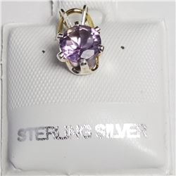 Silver Amethyst(0.75ct) Pendant, Made in Canada, Suggested Retail Value $40