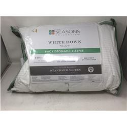 The Seasons Collections White Down Pillow-Queen (Back/Stomach Sleeper)