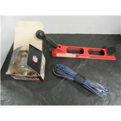 BOX WITH DOOR LOCKS, DEADBOLTS, WIRING, ETC
