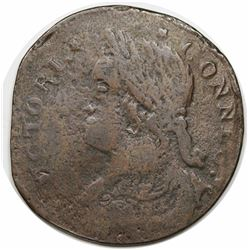 1788 Connecticut Copper, Draped Bust Left, Miller 16.1-D, R3, F12