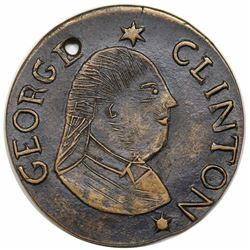Engraved Fantasy Copy of a 1787 New York George Clinton Copper