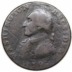 1791 Washington Large Eagle Cent, Baker 15, GW-15, R2, G6