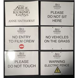 Alice Through the Looking Glass (2016) - Set Signs Including Hathaway Trailer Sign