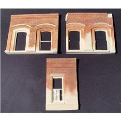 Batman Begins (2005) - Set of 3 Miniature Building Fronts (Unfinished)