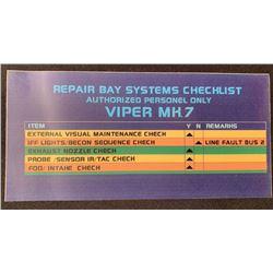 Battlestar Galactica (2004 - 2009) - Viper Repair Bay Console Screen Laminate - Lot B