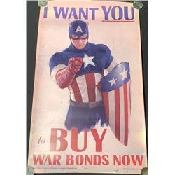 Captain America: The First Avenger (2011) - Captain America War Bonds Poster