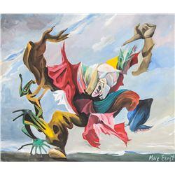 Max Ernst German Surrealist Oil on Paper