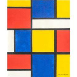 Piet Mondrian Dutch De Stijl Acrylic on Canvas