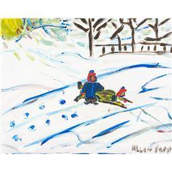 Allen Sapp Canadian Modernist Acrylic on Canvas