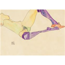 Egon Schiele Austrian Pencil and Watercolor 1914