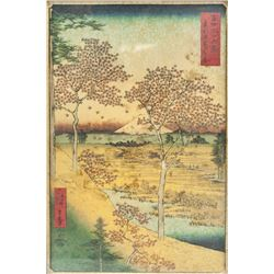 Ando Hiroshige Japanese Print on Paper Mount Fuji