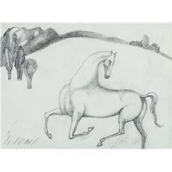 Mario Sironi Italian Modernist Pencil on Paper