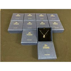 LOT OF 10 'TITANIC EXHIBIT' COMMEMORATIVE NECKLACES