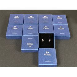 LOT OF 10 PAIRS OF 'TITANIC EXHIBIT' COMMEMORATIVE EARRINGS