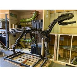 MONOLOPHOSAURUS FULL SKELETON ON STEEL FRAME, THEROPOD FOUND IN CHINA FROM THE