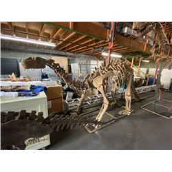 SHUNOSAURUS FULL SKELETON ON STEEL FRAME, FOUND IN SICHUAN CHINA FROM THE LATE JURASSIC PERIOD
