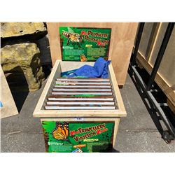 WOODEN CRATE OF ASSORTED HARDBOARD EXTREME BUGS GRAPHICS AND INFORMATION