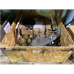 BIN OF ASSORTED GEAR BOXES AND MOTORS, ASSORTED SIZES