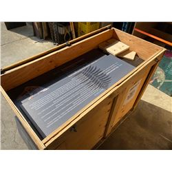 WOODEN CRATE OF ASSORTED HARDBOARD DINOSAUR GRAPHICS AND INFORMATION