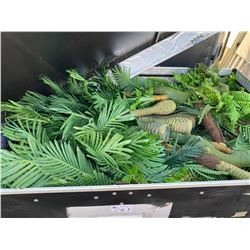 FAUX ASSORTED SIZED JURASSIC PERIOD GROUND COVER / FOLIAGE IN CUSTOM MOBILE ROAD CASE