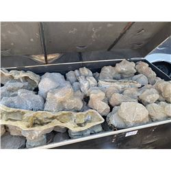 ASSORTED SIZED JURASSIC PERIOD GROUND COVER  FIBERGLASS ROCKS IN CUSTOM MOBILE ROAD CASE
