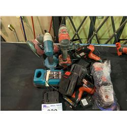 ASSORTED MAKITA & SKILPOWER TOOLS, CHARGERS & BATTERIES