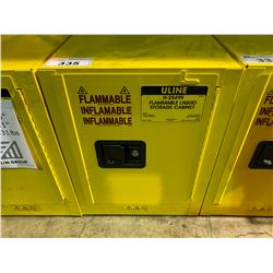 YELLOW JUSTRITE FLAMMABLE LIQUID STORAGE CABINET