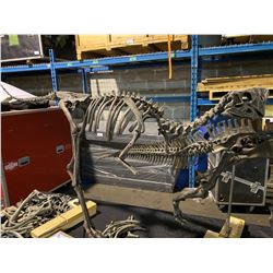 OVIRAPTOR FULL SKELETON ON STEEL / WOOD FRAME, RAPTOR FOUND IN MONGOLIA FROM THE CRETACEOUS PERIOD