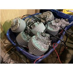 PLASTIC CRATE OF ELECTRIC GEAR BOXES