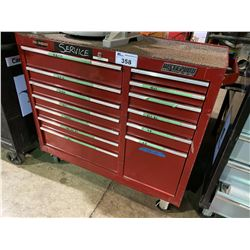 WATERLOO PRO RED 12 DRW ROLLING TOOL CHEST