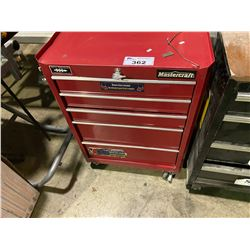 MASTERCRAFT RED 5 DRW ROLLING TOOL CHEST