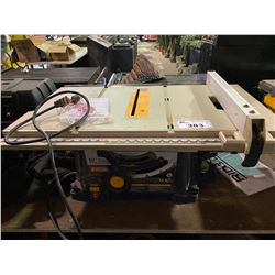 "RYOBI 10"" BENCH TOP TABLE SAW"