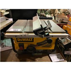 "DEWALT 10"" BENCH TOP TABLE SAW"