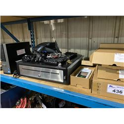 LOT OF ASSORTED P.O.S. EQUIPMENT INC. SCANNERS, PRINTERS, CASH DRAWERS AND COMPUTERS (HDS REMOVED)