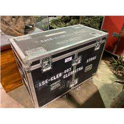"ROLLING ROAD CASE WITH EXHIBIT PREP ITEMS.  CASE MEASURES: 48"" WIDE X 24"" DEEP X 38"" TALL"