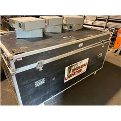 "LARGE ROAD CASE (88"" WIDE X 50"" DEEP X 43"" TALL) WITH APPROX. 50 ANIMATRONIC CONTROLLERS INSIDE"