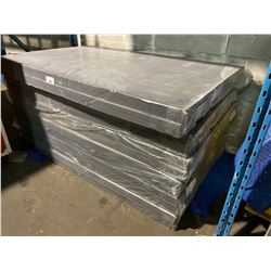"LOT OF 12 SHEETS OF HI DENSITY FOAM FOR PACKING FOSSIL EXHIBITS. EACH SHEET IS 79"" X 50"" X 3"" THICK"