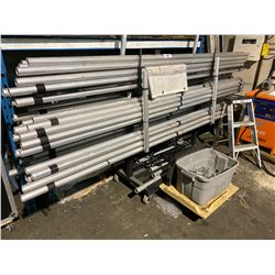 ROLLING RACK WITH BACK DROP POLES AND ATTACHMENTS