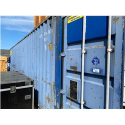 40' LONG BLUE SHIPPING CONTAINER