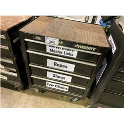 HUSKY 4 DRW ROLLING TOOL CHEST, INCLUDES ALL CONTENTS