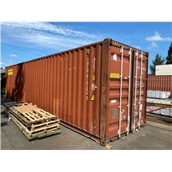 40' LONG BROWN SHIPPING CONTAINER