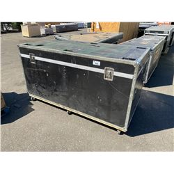 "ROLLING ROAD CASE, 83"" WIDE X 43"" DEEP X 46"" TALL"