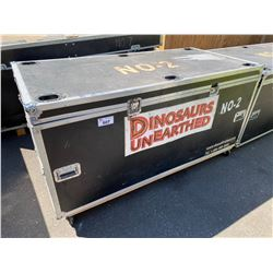 "ROLLING ROAD CASE, 75"" WIDE X 37"" DEEP X 39"" TALL"