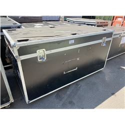 "ROLLING ROAD CASE, 82"" WIDE X 43"" DEEP X 43"" TALL"
