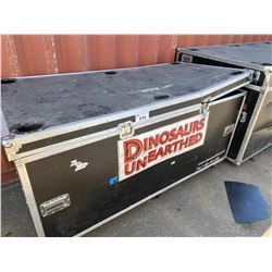 "ROLLING ROAD CASE, 76"" WIDE X 36"" DEEP X 38"" TALL"