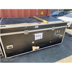 "ROLLING ROAD CASE, 89"" WIDE X 48"" DEEP X 43"" TALL"